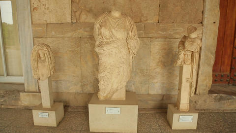 Valuable exhibits at Agora Archaeological Museum, Athens, ancient Greek culture Footage