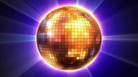 3d shiny disco ball loop Live Action