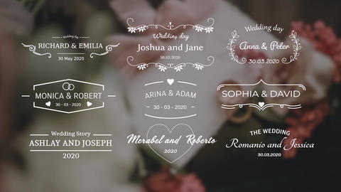 Outline Wedding Titles Motion Graphics Template
