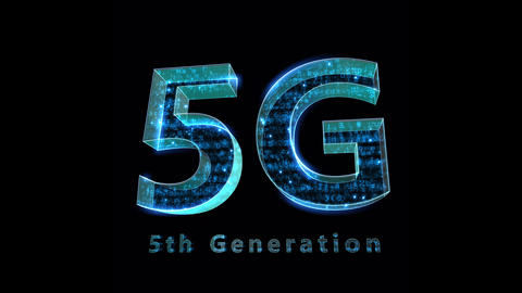 5G Digital Network technology 5th generation mobile communication concepts Background 0 F1 blue 4k Animation