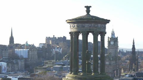 Famous Calton Hill in Edinburgh Live Action