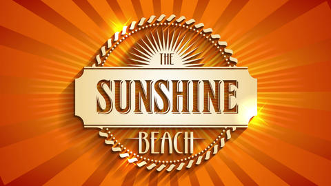 glamorous holiday destination publicity with text the sunshine beach written over background made Animation