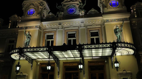 Monaco, Monte Carlo, 30 May 2013: The famous casino in the world at night Live Action