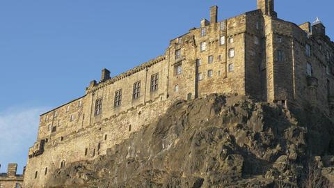 The Castle of Edinburgh - Edinburgh city scapes Live Action