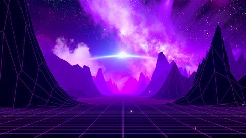 Retro Sci-Fi Space Horizon CG動画