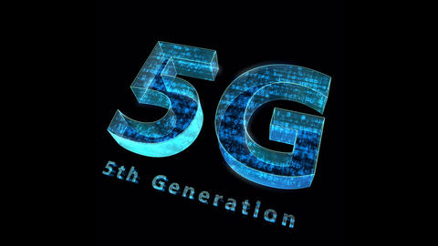 5G Digital Network technology 5th generation mobile communication concepts Background 0 N1 blue 4k Animation