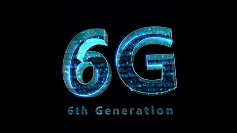 6G Digital Network technology 6th generation mobile communication concepts Background 0 F1 blue 4k Animation