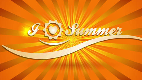 i affection summer holidays written with gold writing on a sunshine background for fancy pioneer Animation