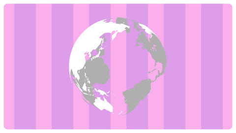 Rotate globe&Stripe pink Videos animados