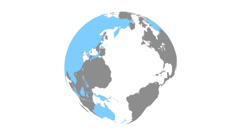Rotate globe_blue(with alpha) CG動画