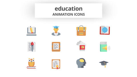 Education - Animation Icons After Effects Template