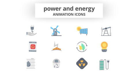 Power & Energy - Animation Icons After Effects Template