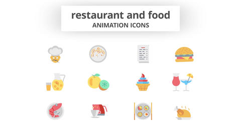 Restaurant & Food - Animation Icons After Effects Template