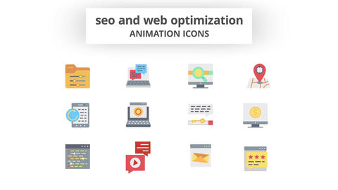 SEO & Web Optimization - Animation Icons After Effects Template