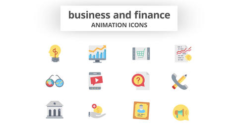 Business & Finance - Animation Icons After Effects Template