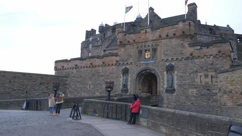 Edinburgh Castle on Castlehill in the historic district of Edinburgh Live Action