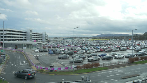 Edinburgh Airport - wide angle view Live Action