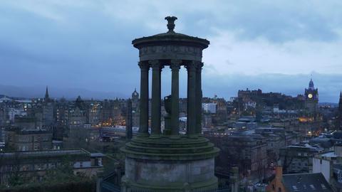 Calton Hill in Edinburgh is a popular place - EDINBURGH, SCOTLAND - JANUARY 10 Live Action