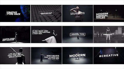 Minimal-art-titles Motion Graphics Template