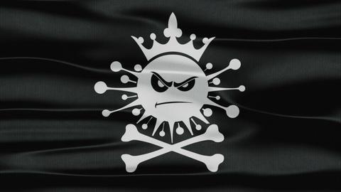 Flag coronavirus 4 GIF