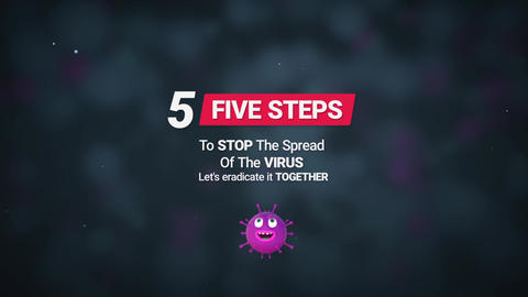Corona Virus (Five Simple Rules) Motion Graphics Template