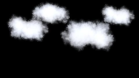 3D cloud, animation, transparent background Live Action