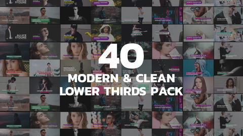 40 modern lower-thirds pack Premiere Pro Template