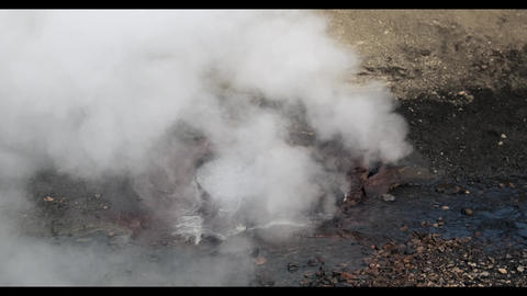 Natural gayser hotspring in Iceland Live Action