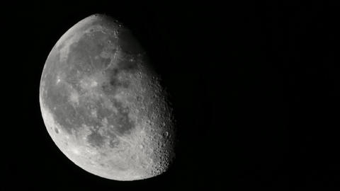 Moon 4K UHD close-up. Planet satellite Live Action