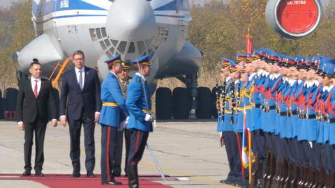Military Parade Sloboda (Freedom) 2017 with Serbia President Aleksandar Vucic Live Action