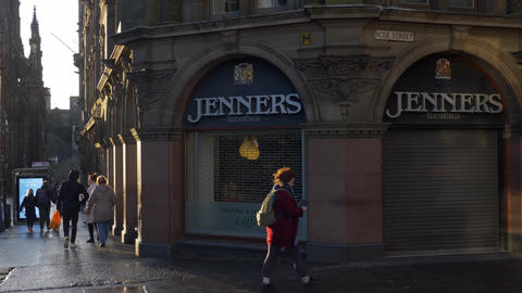 Famous Jenners Store in Edinburgh Live Action