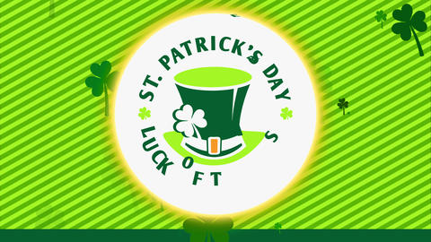 st patricks day advertising to advertise whiskey holiday folklore with printing forming circle Animation