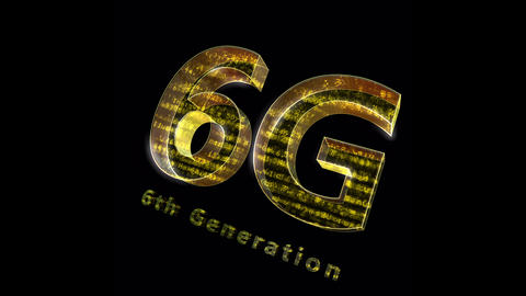 6G Digital Network technology 6th generation mobile communication concepts Background 0 N1 red 4k Animation