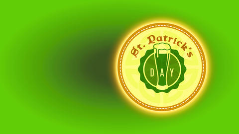st patricks day drink coaster dream with full beer glass graphical celtic shield and trimming edge Animation
