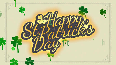 cheerful saint patricks day typography concept for vacation date memorial and ceremony party Animation