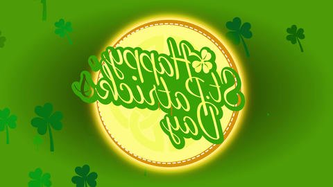 smiling st patricks day themed beermat suggestion date 17th march reminding to praise whiskey Animation