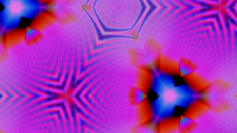 Glowing rotating kaleidoscope background. 4K trending motion graphics Live Action