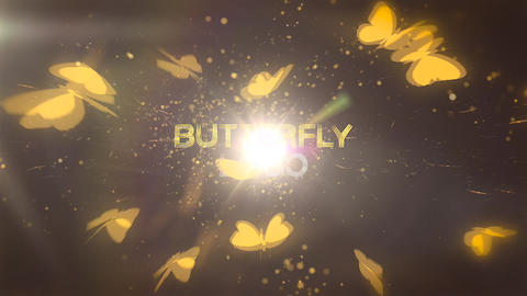 Butterfly Logo Reveal Apple Motion Template