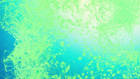 Beautiful moving particles on a colored background. 4K abstract background Live Action