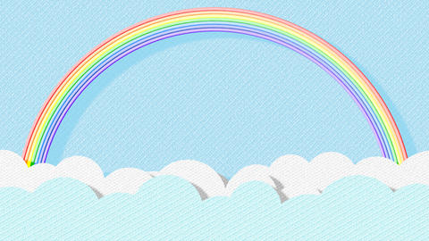 Paper Clouds and a Rainbow Animation Animation