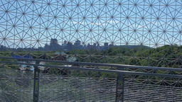 City view from the famous geodesic dome Live Action