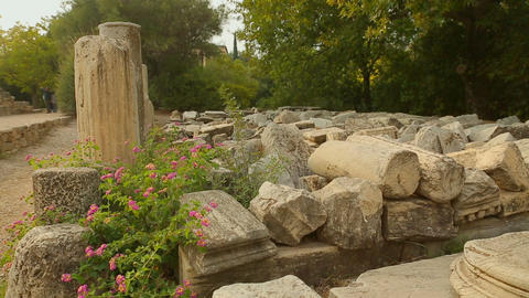 Huge marble stones decaying on archaeological excavation site, lack of funding Live Action