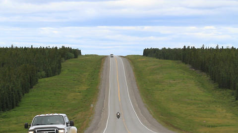 ALCAN highway traffic Canada P HD 1324 Footage