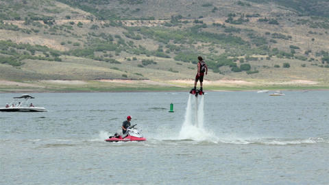 Acrobatic somersault summer water sports Fly Board slow motion HD 9502 GIF