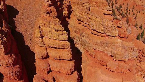 Aerial Beautiful red rock mountains erosion Utah HD 108 Footage