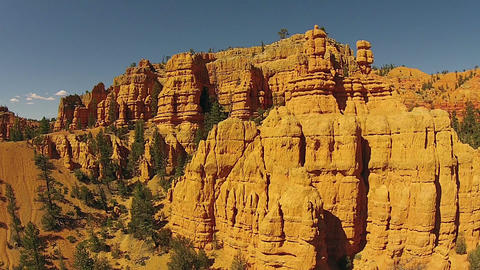 Aerial beauty in nature red rock towers Southern Utah HD 123 Footage