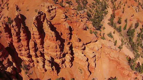 Aerial southern Utah red rock mountain erosion HD 109 GIF