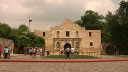 Alamo tourists Daytime HD Footage