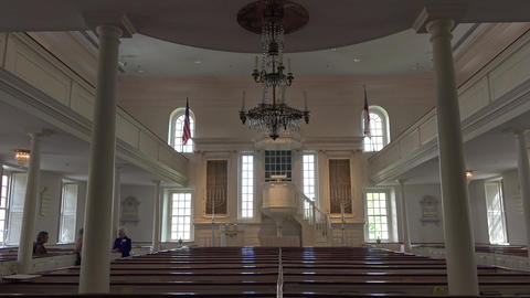 Alexandria Virginia historic Christ Church interior religion 4K Live Action