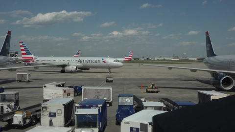 American Airlines aircraft taxi Dulles International Airport 4K 035 Footage